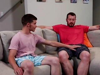 Gay stepson Jacob takes step daddies cock