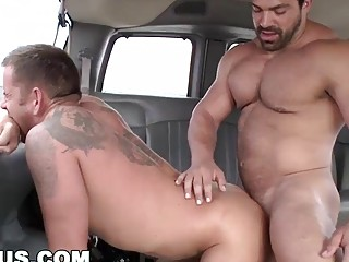 Straight guy gets tricked into anal sex on a trick bus
