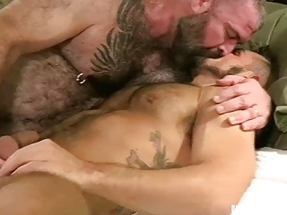 Daddy takes his hunk stepsons ass