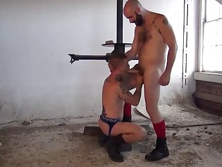 An abandoned factory is the perfect place for these gays to fuck