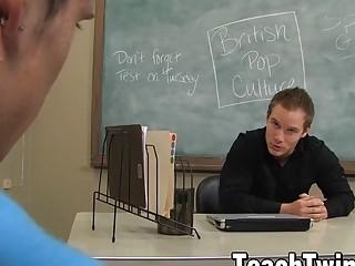 Teacher ass breeds cute student twink