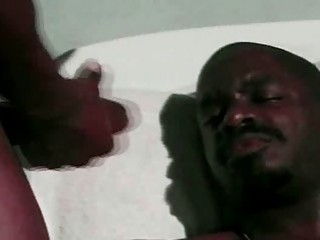 Black lover throats it before enjoying great gay anal sex