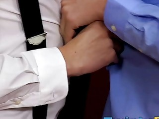 Geeky tutor gets a lesson in hardcore gay sex