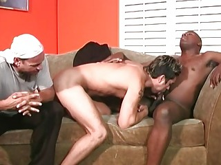 Black bros fill him to the brim with hard wood