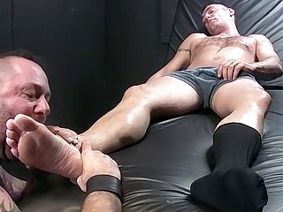 Hot studs want to have foot sex instead'