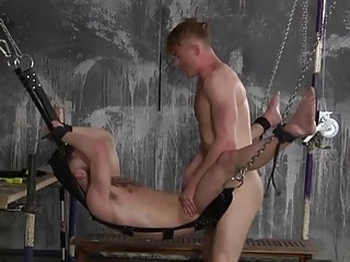 Dominated gay slut can only take the pounding