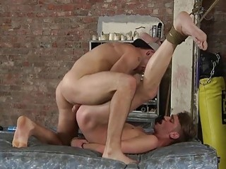 He uses a dildo to stretch his boy out first