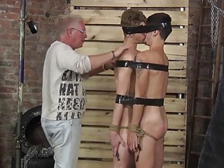 Master has two bound sluts to play with