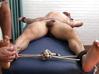 Massage turns into a kinky tickle session