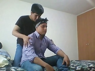 Latin guys massage and give gay sex a go