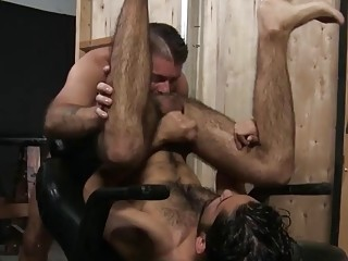 This hairy guy loves a massive dick up his hole