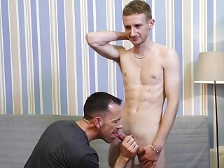 Daddies first time hetero with gay son