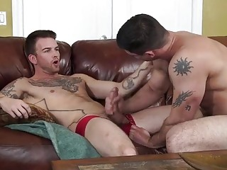 Friend has gay bareback with studs big cock