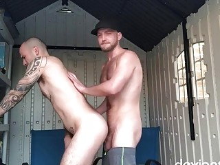 Wernick gets a gay bareback fucking in shed
