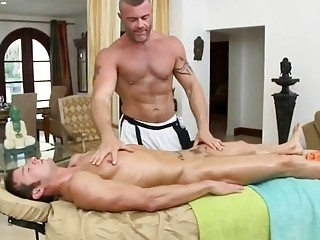 Kevin Crows delivers a massage and receives a anal fucking