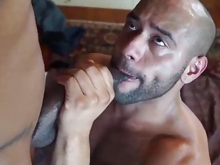 Sexy black bucks are having rough anal sex in this porn video