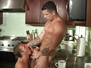 Alex Andrews and Trenton Ducati use the kitchen as a sex den