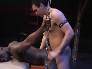 White hottie drills this black hunk's hole