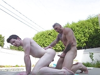 Poolside anal sex with William Seed and Thyle Knoxx
