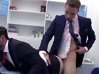 This doctor gives his patient a special examination