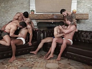 Crazy and hot unprotected and uncut orgy
