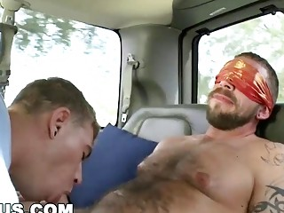 Broke fool has hot sex on bait bus for cash