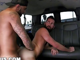 Straight Hispanic punishes this gay fucker with his dick