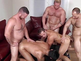 Younger and older come together for an orgy