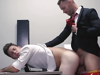 Banging at the office with Paul Canon and Kit Cohen