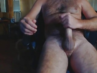 Redneck dad Leroy jerks for the webcam