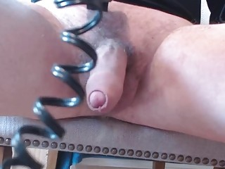 Shaving cock and balls and then jacking himself off