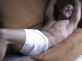 Restrained amateur stripped naked by master and tickled