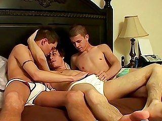 Extreme anal with three twinks fucking each other hardcore