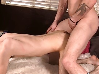 Cumshot after anal for two young men